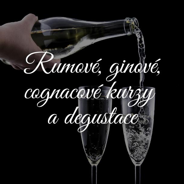 Rumové, ginové a cognacové kurzy a degustace