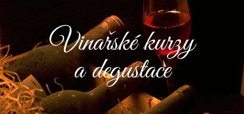 Vinařské kurzy a degustace vína