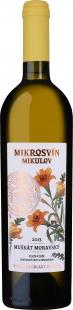MUŠKÁT MORAVSKÝ, POZDNÍ SBĚR, FLOWER LINE, MIKROSVÍN, 0,75L